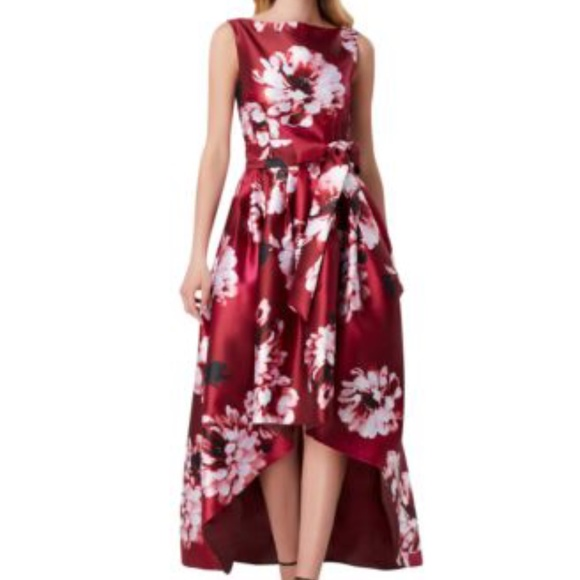 Tahari Hi Low Floral Print Dress
